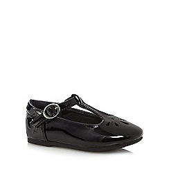 bluezoo - Girls' black T bar slip-on shoes