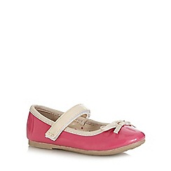 bluezoo - Girls' pink contrast ballet pumps