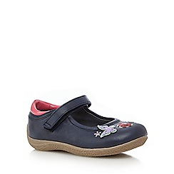 bluezoo - Navy floral crepe sole shoes
