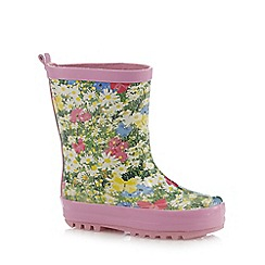 bluezoo - Girls' pink floral wellington boots