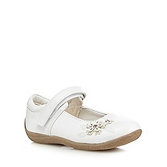 bluezoo - Girls' white flower embroidered crepe sole shoes
