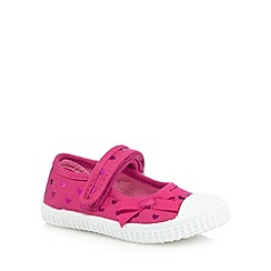 bluezoo - Girls' pink heart print shoes