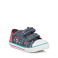 bluezoo - Girls' blue chambray canvas trainers
