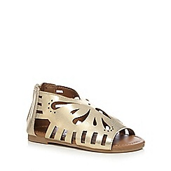 bluezoo - Gold cut-out butterfly gladiator sandals