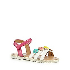 bluezoo - Girls' multi-coloured flower applique sandals