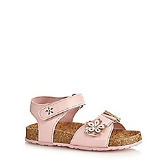 bluezoo - Girls' pink floral butterfly applique sandals