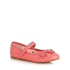 bluezoo - Girls' pink butterfly applique shoes