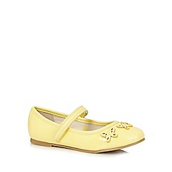 bluezoo - Girls' yellow butterfly applique shoes