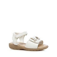 bluezoo - Girls' white butterfly applique double rip tape sandals