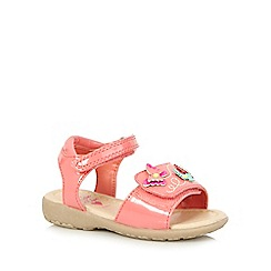 bluezoo - Girls' pink butterfly applique double rip tape sandals