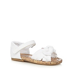 bluezoo - Girls' white bow two part sandals