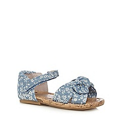 bluezoo - Girls' blue chambray two part sandals