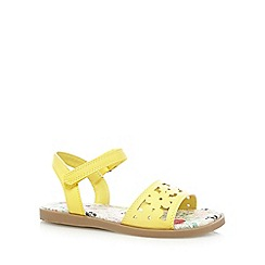 bluezoo - Girls' yellow floral cut-out sandals