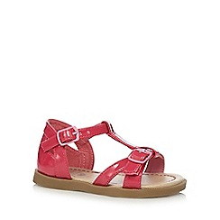 bluezoo - Girls' bright pink buckle strap sandals