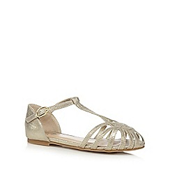 bluezoo - Girls' gold cage sandals