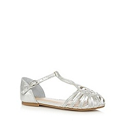 bluezoo - Girls' silver cage sandals