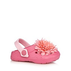 bluezoo - Girls' pink flower applique sandals