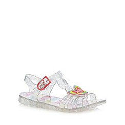 bluezoo - Girls' multi-coloured butterfly applique jelly shoes