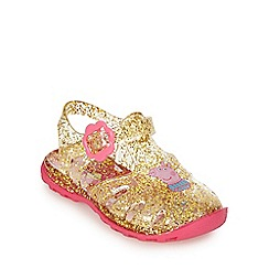 bluezoo - Girls' gold 'Peppa Pig' sandals