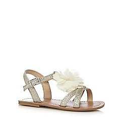 bluezoo - Girls' gold corsage sandals