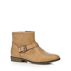 Mantaray - Girls' tan ankle boots