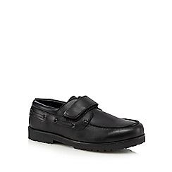 Debenhams - Boys' black boat shoes