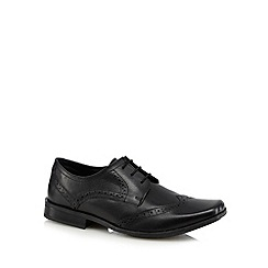 Debenhams - Boys' black school brogues
