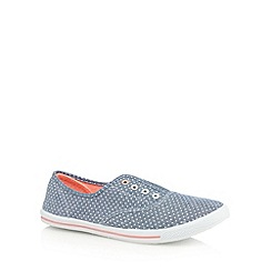bluezoo - Girls' blue polka dot eyelet shoes