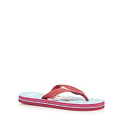 bluezoo - Girls' pink dog print flip flops
