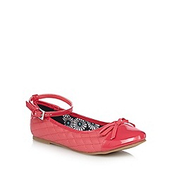 bluezoo - Girls' pink quilted patent toe cap shoes