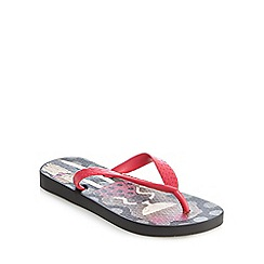 Ipanema - Girls' black 'girl and dog' print flip flops
