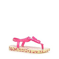 Ipanema - Girls' pink butterfly charm sandals