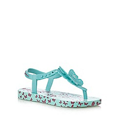 Ipanema - Girls' light green butterfly charm sandals