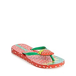 Ipanema - Girls' red strawberry sandals