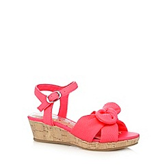 bluezoo - Girls' bright pink small wedge sandals