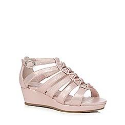 bluezoo - Girls' pink bow applique sandals
