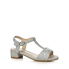 bluezoo - Girls' silver jewelled sandals