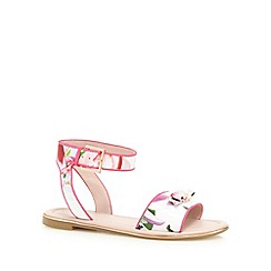 Baker by Ted Baker - Girls' white floral print sandals