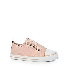 Mantaray - Girls' pink slip-on shoes