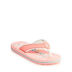 Mantaray - Girls' light pink flip flops