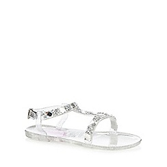 bluezoo - Girls' silver glitter sandals