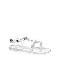 bluezoo - Girls' silver glitter sandals