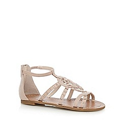 bluezoo - Girls' pink studded cage sandals