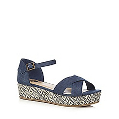 bluezoo - Navy denim flat sandals