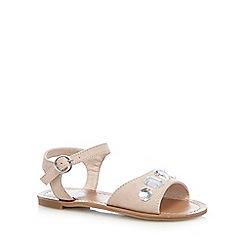 bluezoo - Girls' pale pink jewel sandals