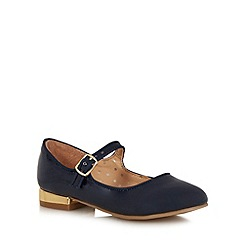 bluezoo - Girls' navy patent Mary Jane shoes