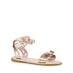 Baker by Ted Baker - Girls' gold cut-out butterfly sandals