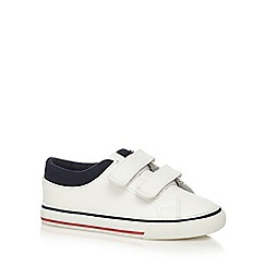 bluezoo - Boys' white three tab trainers