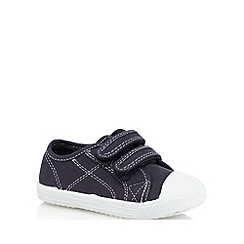 bluezoo - Boys' navy stitch detail shoes