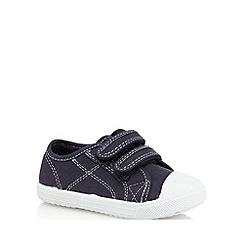 bluezoo - Boys' navy stitch detail shoes